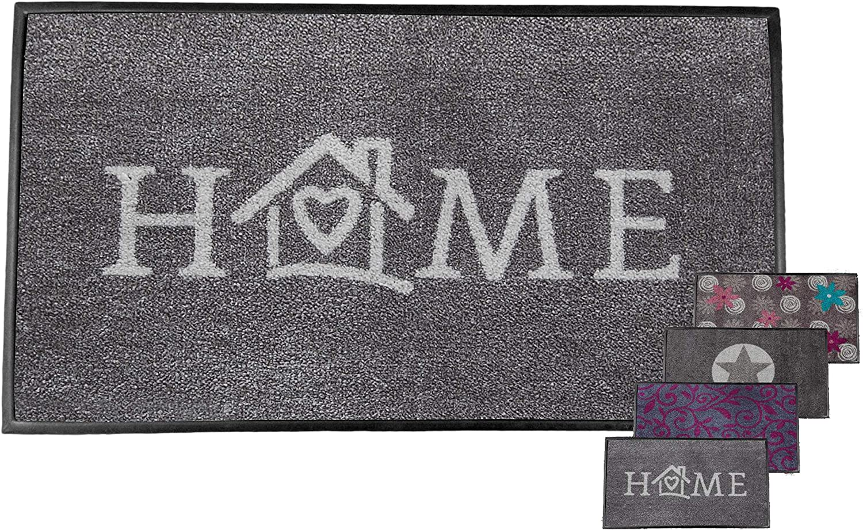 Carpet Diem Tapis Soft Home 50x75cm Cadre en velours Velour le fil absorbant antid/érapant sur lenvers absorbe la salet/é et leau pour les espaces ext/érieurs et int/érieurs prot/ég/és.