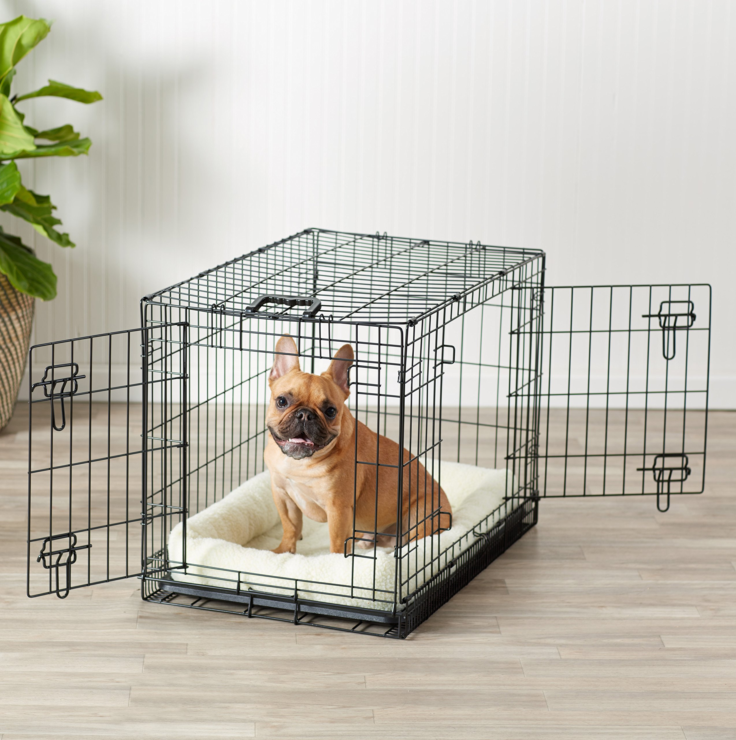 AmazonBasics Double-Door Folding Metal Dog Crate - 30 Inches by AmazonBasics (Image #2)