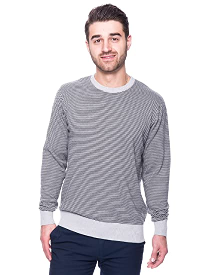 279b9fb52b Noble Mount Men s Premium 100% Cotton Crew Neck Sweater at Amazon ...