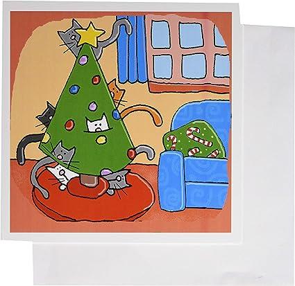 Gato de Navidad 3Drose, árbol de Navidad con gatos, gatos, Navidad ...