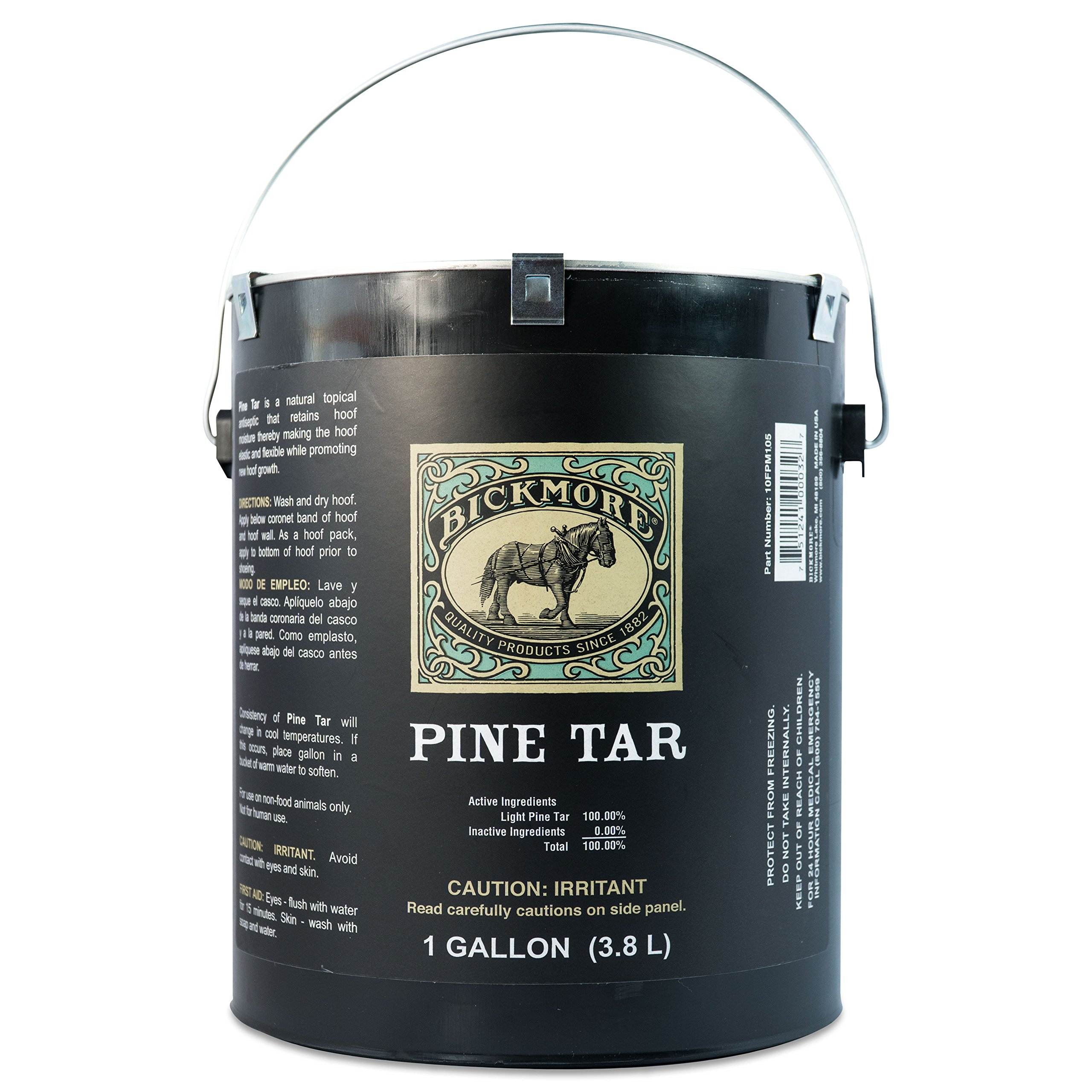 Bickmore Pine Tar 1 Gallon - Hoof Care Formula For Horses by Bickmore