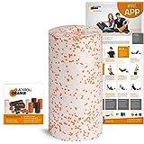 Blackroll Orange Faszienrolle MED Massagerolle, für die Faszien mit Anleitung und Übungsposter
