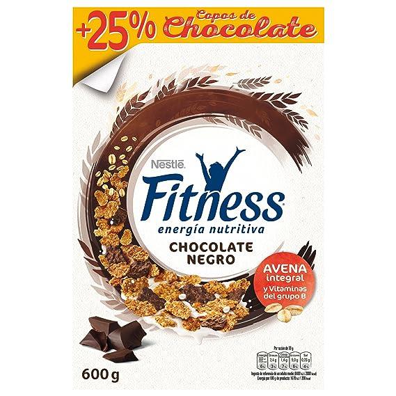 Fitness Copos de trigo integral y arroz tostados (el 29% recubiertos de chocolate negro