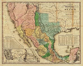 Amazon.com: Magnet 1846 Map of The United States of Mexico ...