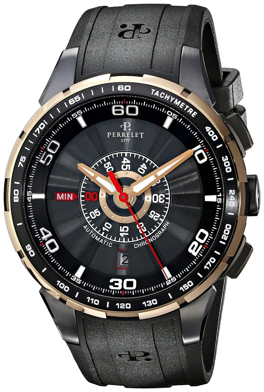 Perrelet Turbine Chrono, Automatic Watch, Black Watches, Chronograph, Luxury Watch, Tachymetre