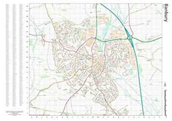 street wall map with index banbury