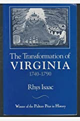 The Transformation of Virginia, 1740-1790 Paperback
