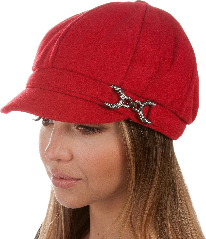 Sakkas Jessica Unisex Wool Newsboy Cabbie Hat 5055861815732