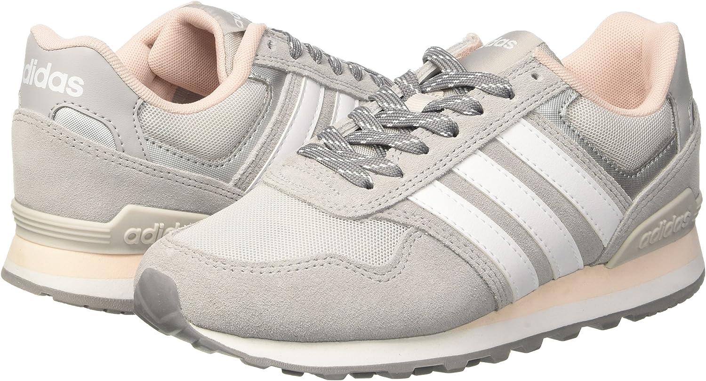 adidas 10K W, Zapatillas de Gimnasia para Mujer, Gris (Grey Two/FTWR White/Icey Pink), 40 2/3 EU: Amazon.es: Zapatos y complementos
