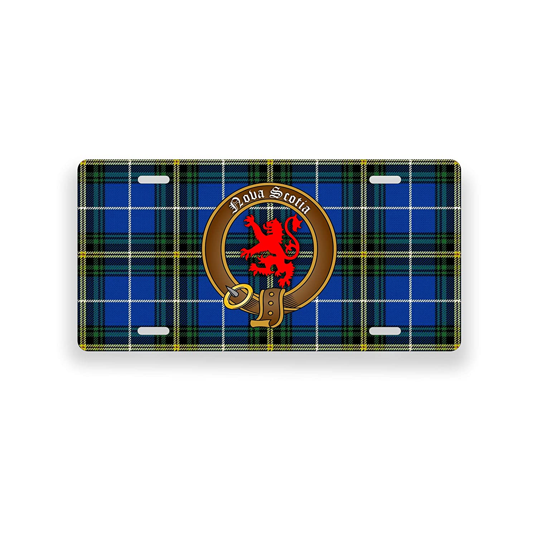 Nova Scotia Flag Tartan Crest Novelty Auto Plate