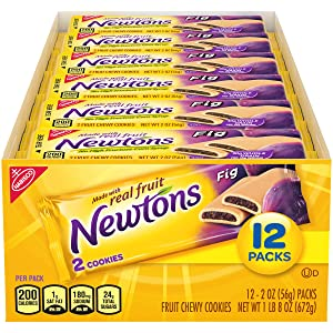 Newtons Soft & Fruit Chewy Cookies, (2 Cookies Per Pack) Fig, 24 Oz (Pack of 12)