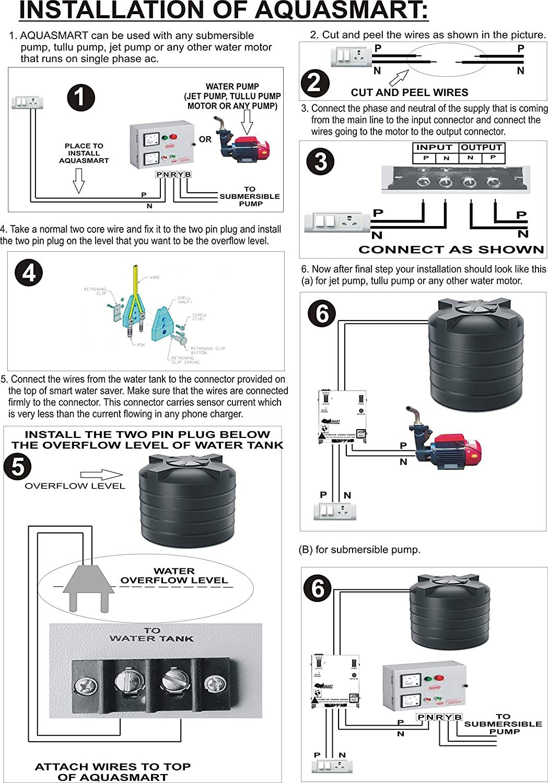 Tech And Trade Aquasmart Semi Automatic Water Tank Overflow Alert Wiring Diagram Controller Alarm Indicator Home Improvement