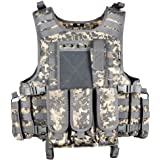 MGFLASHFORCE Tactical Airsoft Vest Adjustable Modular Paintball Vest