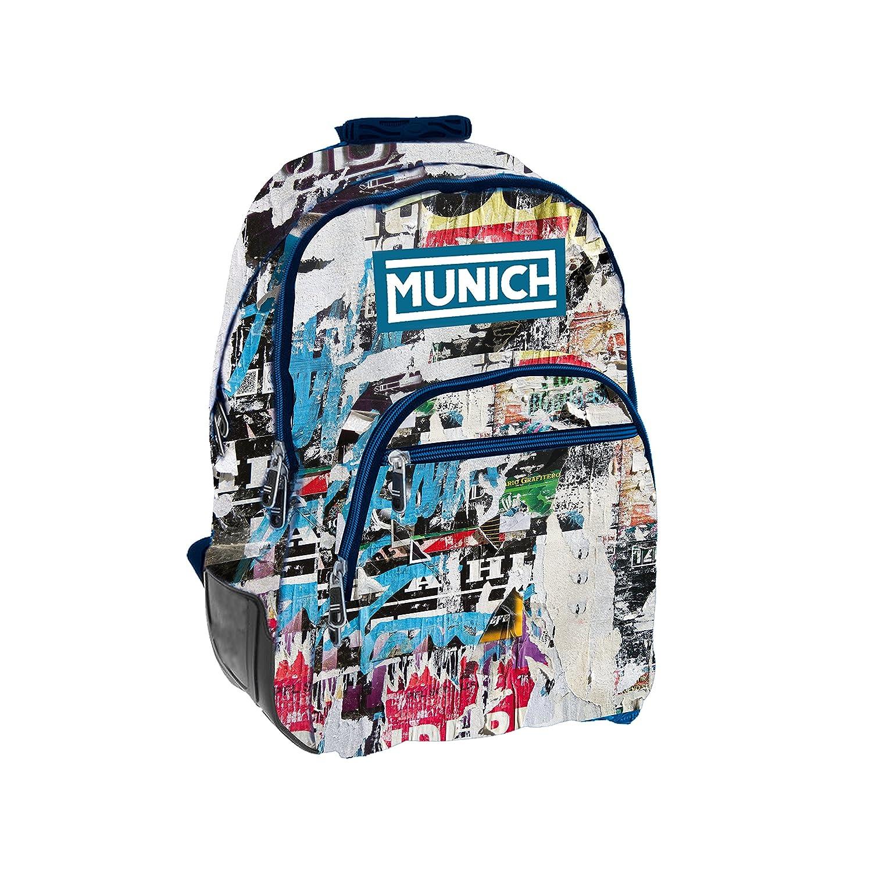Munich Graffiti Mochila Tipo Casual, 44 cm, 20 litros, Azul Marino: Amazon.es: Equipaje