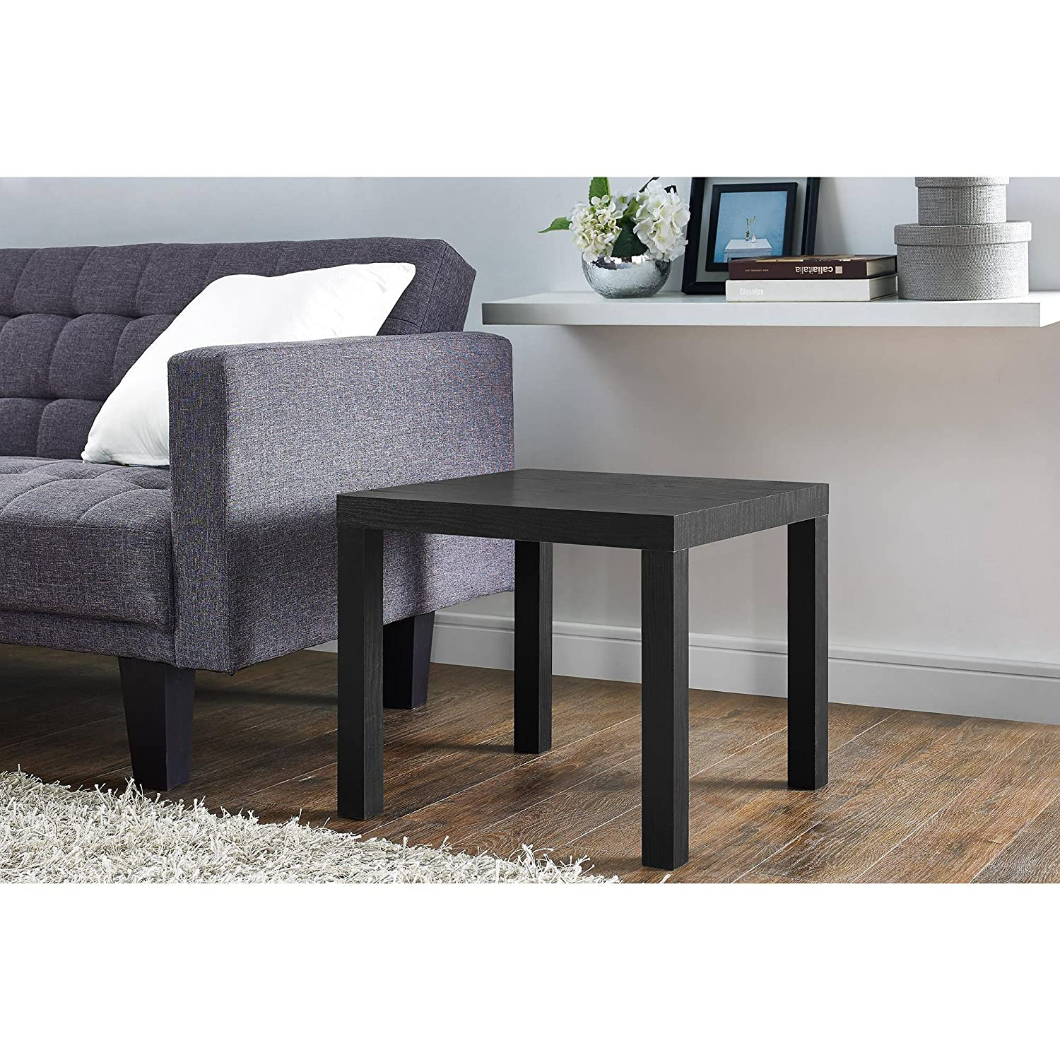 Amazon Mainstays Parsons End Table Multiple Colors Black