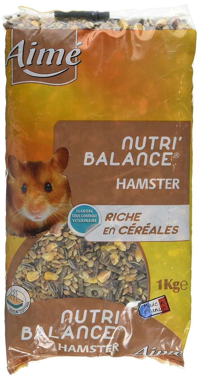 Aime Nourriture Nutri'Balance pour Hamster 1 Kg - Lot de 5 Agrobiothers 3281011002307