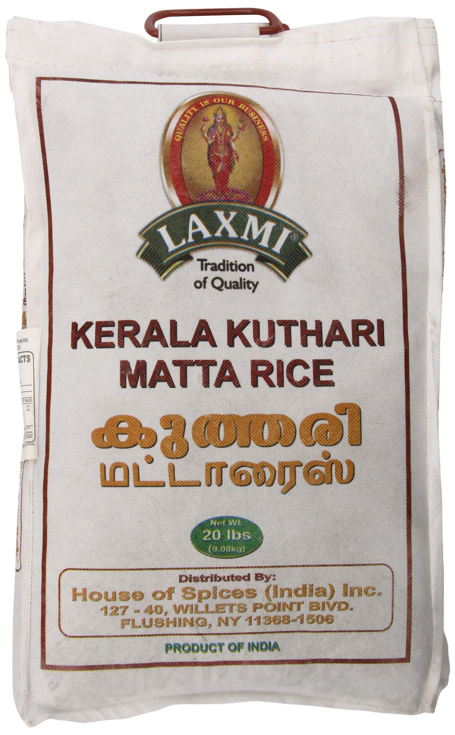 Laxmi All-Natural Kerala Kuthara Matta Rice, 20 Pounds