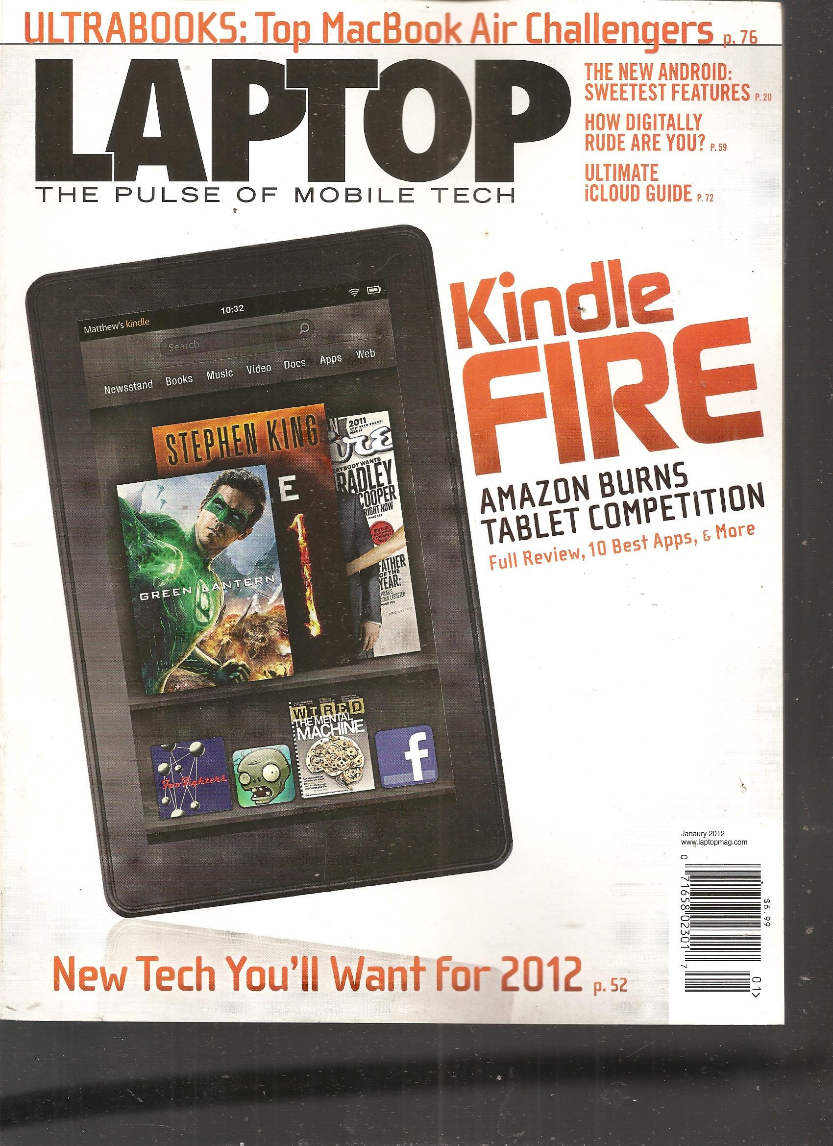 Laptop Magazine (Kindle Fire Amazon burns Tablet Competition Full review 10 best Apps and more, January 2012) pdf