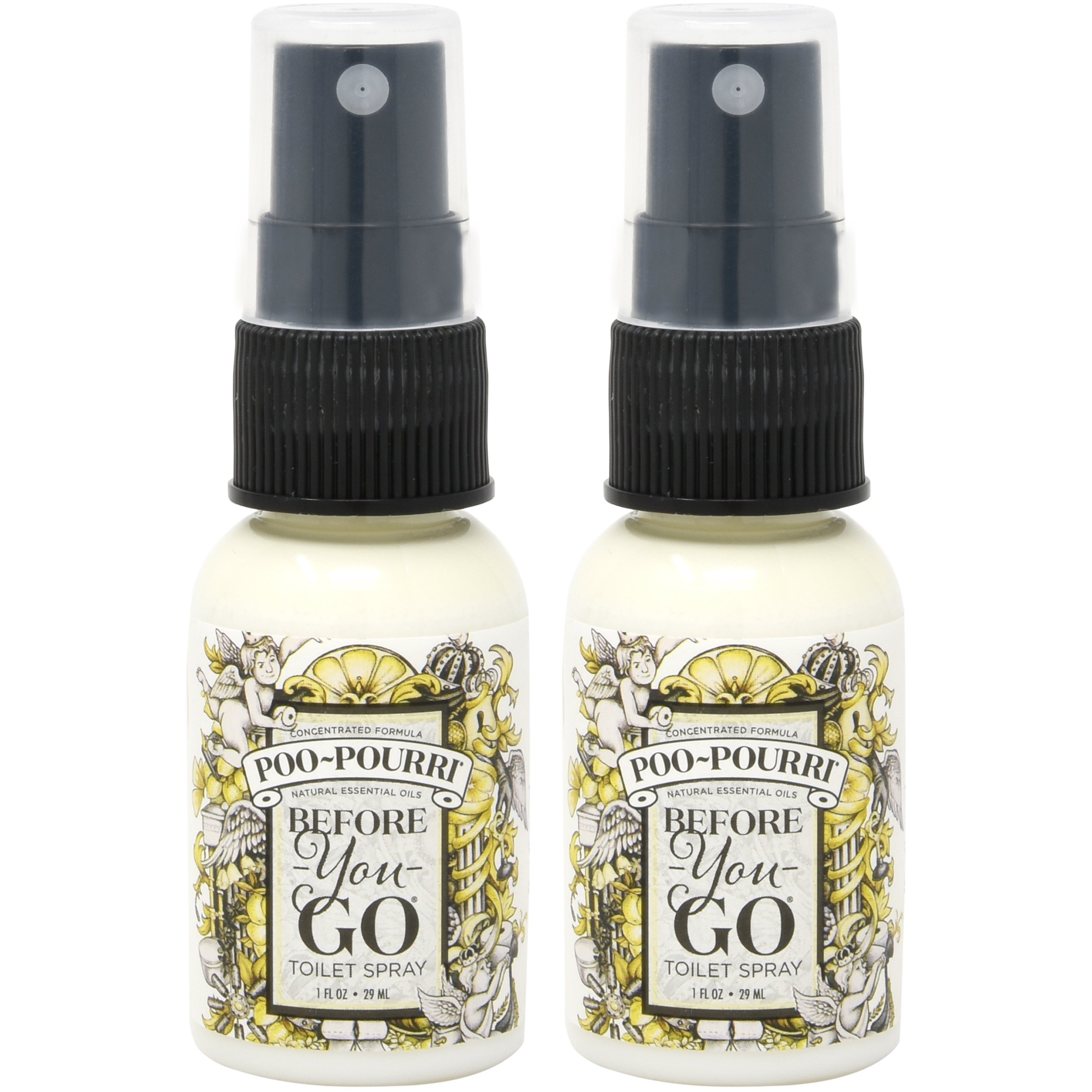Poo-Pourri Before-You-Go Toilet Spray Bottle 1 oz Original Scent - 2 Count