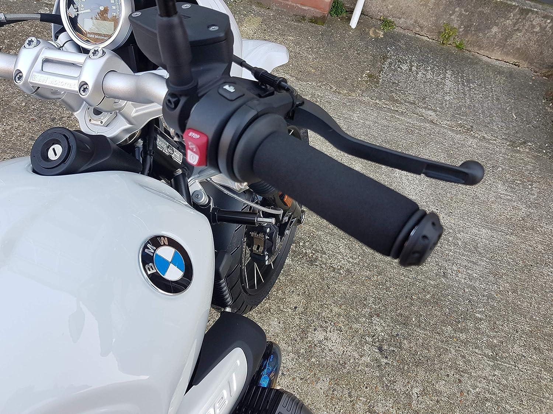 Moto Impugnatura Copertura Antiscivolo Spugna Anti Vibrazione 2 Paia per Tutte Misura Standard Manopole