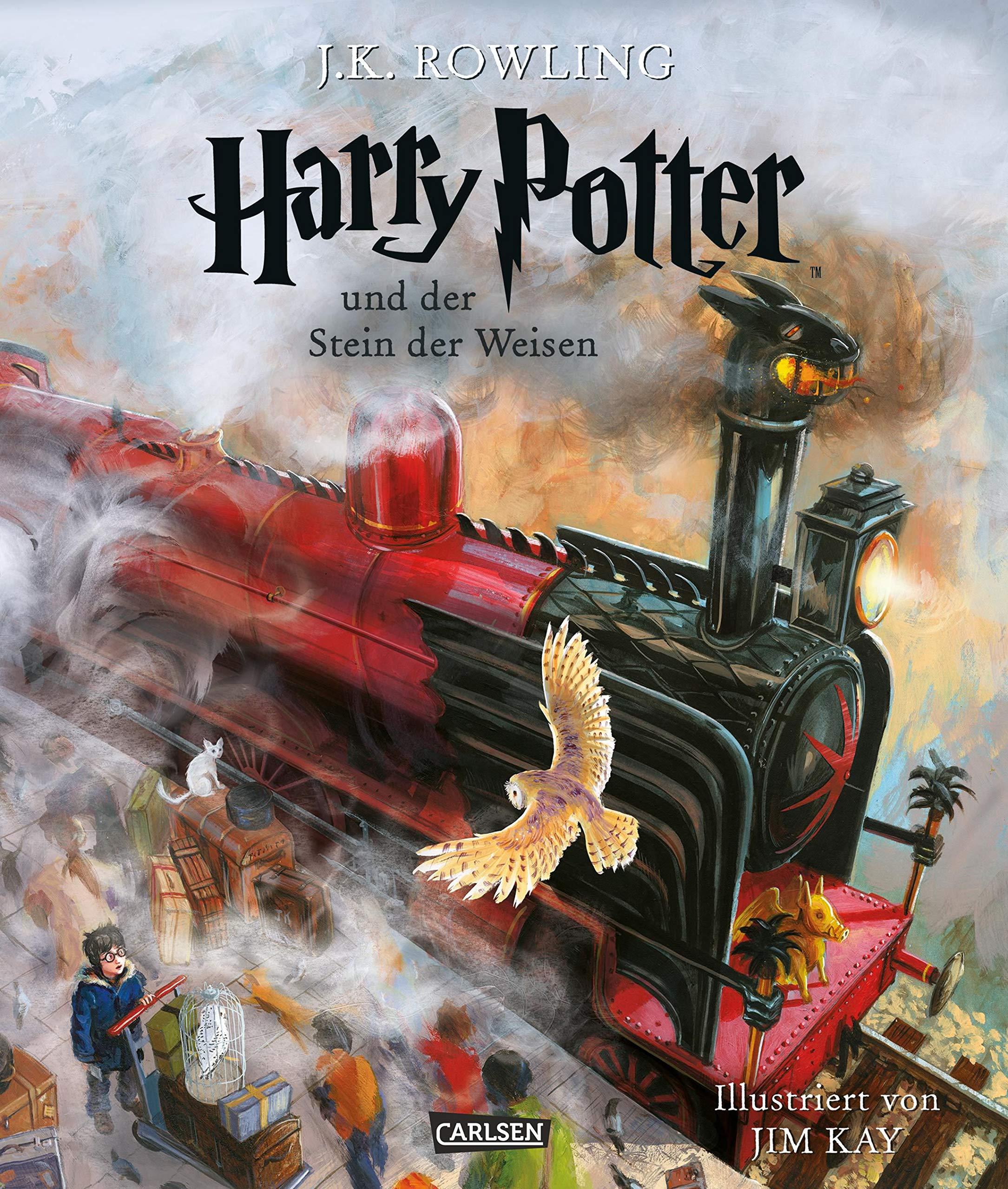 Harry Potter und der Stein der Weisen (vierfarbig illustrierte Schmuckausgabe) (Harry Potter 1) Gebundenes Buch – 6. Oktober 2015 J.K. Rowling Jim Kay Klaus Fritz Carlsen