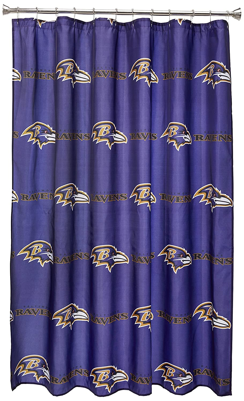 - Amazon.com : NFL Baltimore Ravens Shower Curtain : Sports & Outdoors