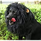 Onmygogo Lion Mane Wig for Dogs with Ears, Funny Pet Costumes for Halloween Christmas