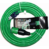 ProLock 12 Gauge 3 Conductor SJTW 50 Foot Extension Cord With Lighted Ends - Green