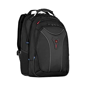 "7e2dd8514 Wenger 600637 CARBON 17"" MacBook Pro Backpack , Padded laptop  compartment with case stabalising platform"