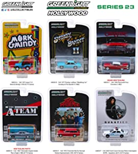 Greenlight Hollywood Series Release 23, Set of 6 Cars 1/64 Diecast Models 44830