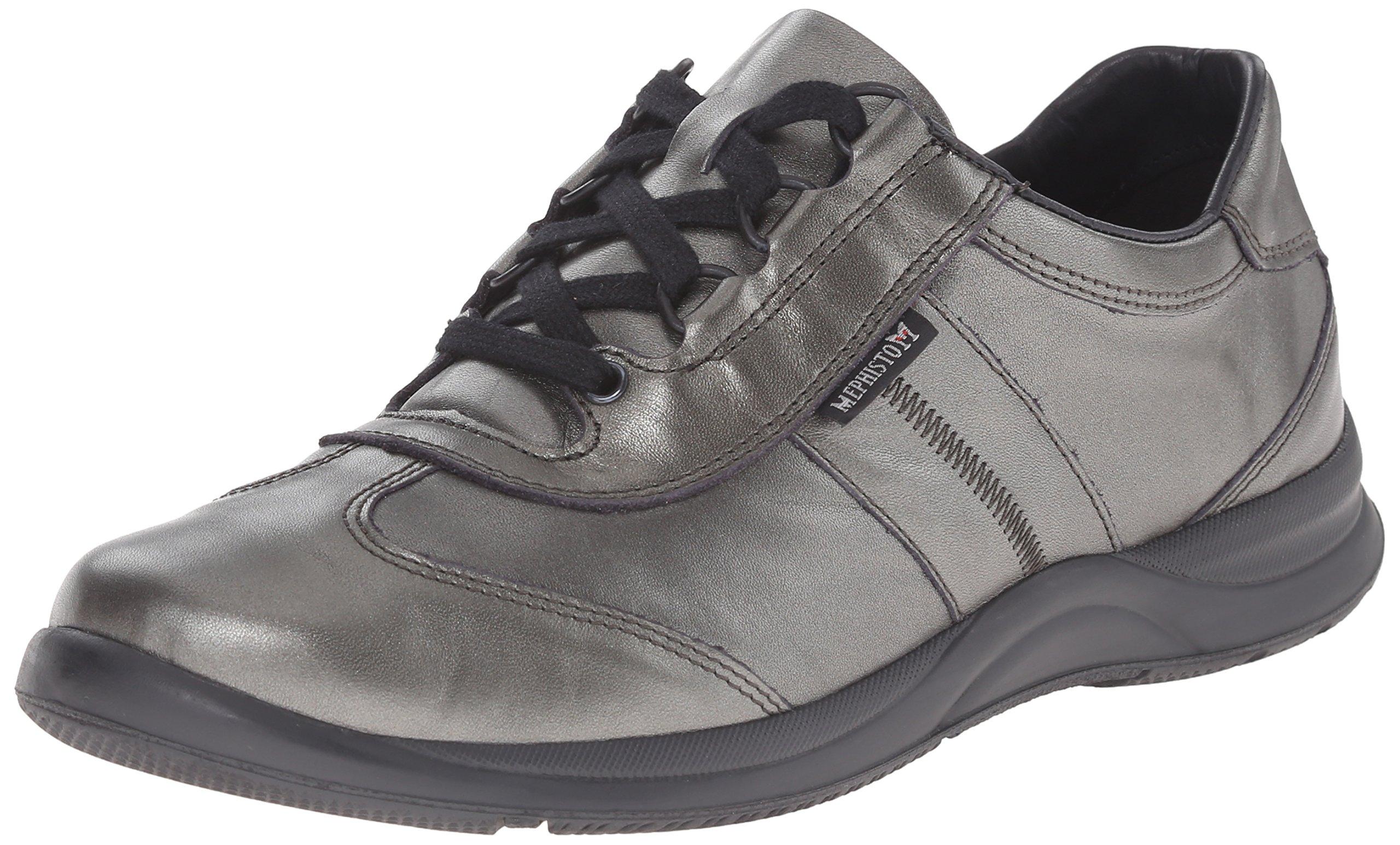 Mephisto Women's Laser Walking Shoe, Dark Grey Perl Calfskin, 8 M US