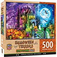 MasterPieces Holiday 500 Glow Puzzles Collection - Halloween Terrors 500 Piece Jigsaw Puzzle