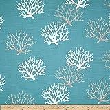 Premier Prints Isadella Coral Slub Coastal Blue Fabric By The Yard