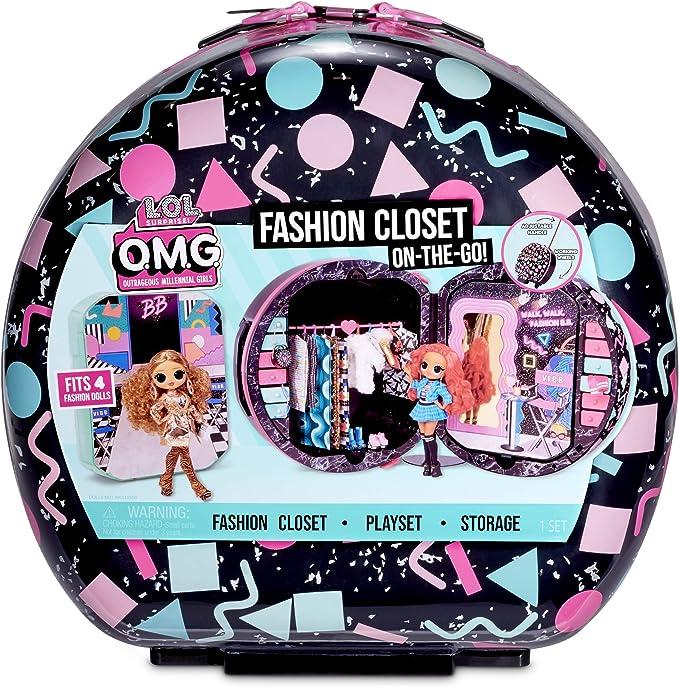 Amazon.com: L.O.L. Surprise! O.M.G. Fashion Closet On-The-Go Rolling Storage fits 4 Fashion Dolls Plus Accessories: Toys & Games