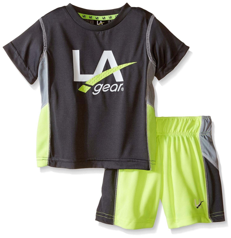LA Gear Boys' 2 Pc Logo Short and Tee Set, LA Gear Kids LB12006