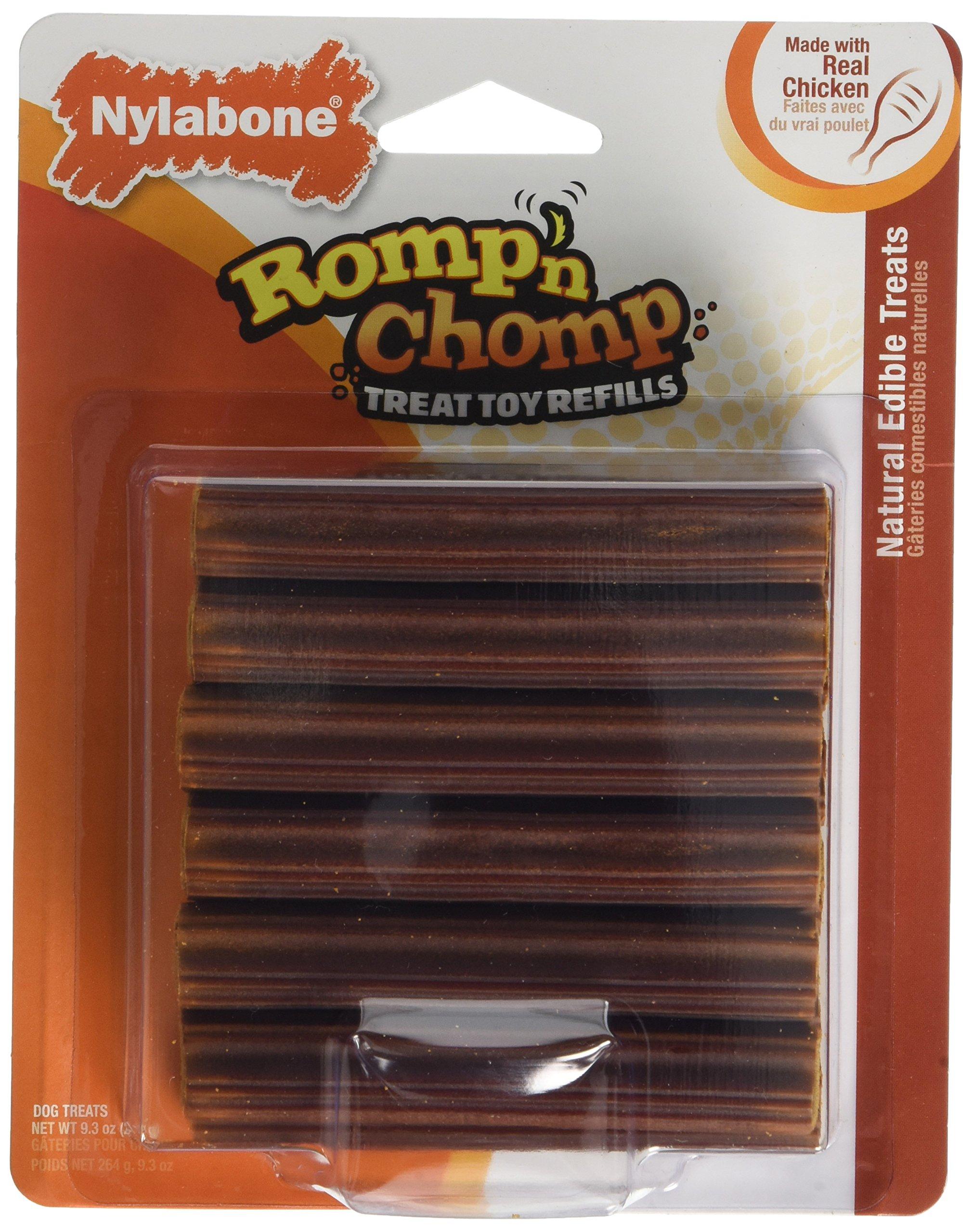 Nylabone Romp 'N Chomp Interactive Treat Toy Refill, 12 Count