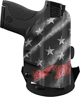 product image for We The People Holsters - Thin Red Line - Outside Waistband Concealed Carry - OWB Kydex Holster - Adjustable Ride/Cant/Retention
