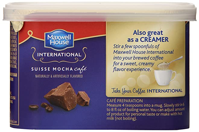 Maxwell House International Coffee Decaf Sugar-Free Suisse Mocha Café