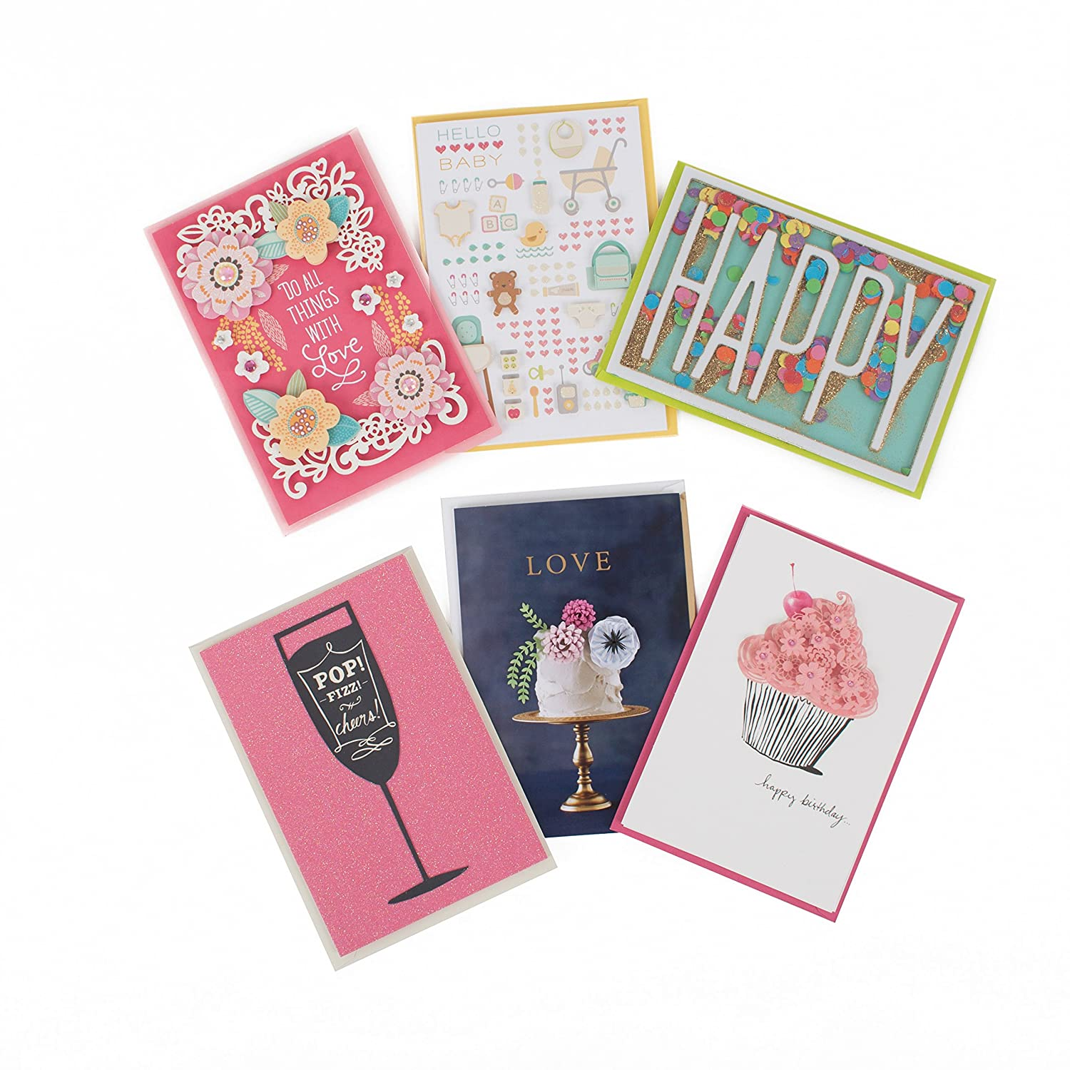 Amazon Signature Lucite Box 6 Greeting Cards 6 Envelopes And