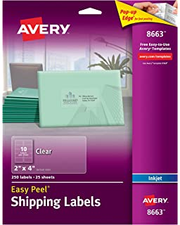 amazon com avery matte frosted clear address labels for laser