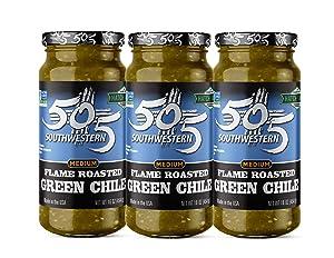 505 Southwestern Flame Roasted Green Chile, Medium (3-16oz Value Pack)