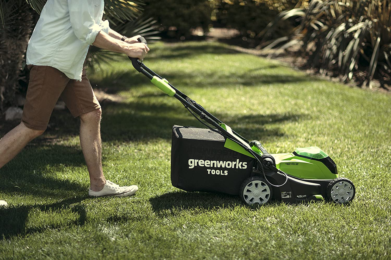 Greenworks v akku rasenmäher cm schnittbreite ohne akku und