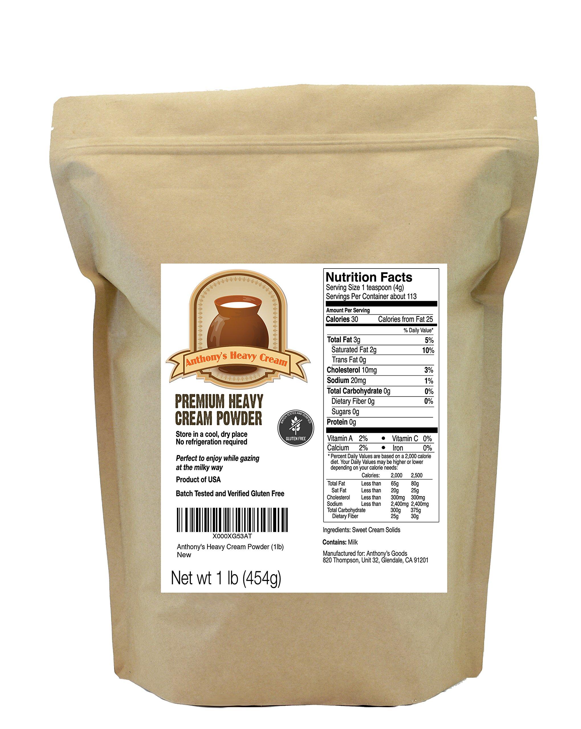 Heavy Cream Powder (1lb) by Anthony's, Batch Tested Gluten-Free