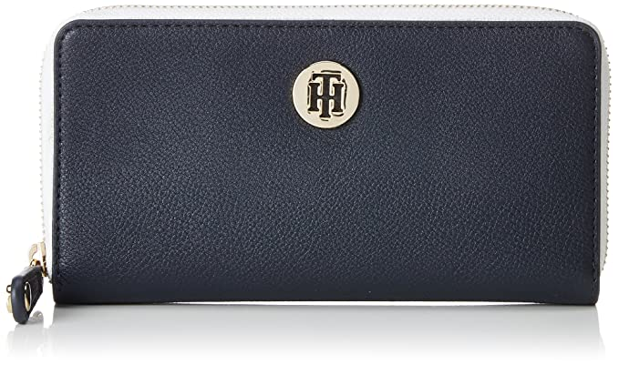 Tommy Hilfiger - Chain Lrg Za Wallet, Carteras Mujer, Azul (Tommy Navy)