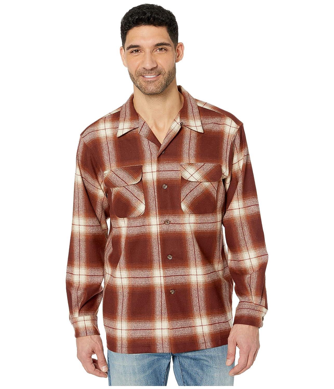 Pendleton Mens Long Sleeve Classic-fit Board Shirt