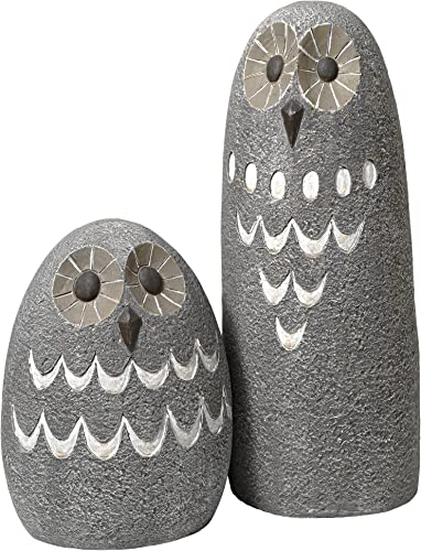 Design Toscano Ogling Outdoor Owl Garden Statue: Set of Two