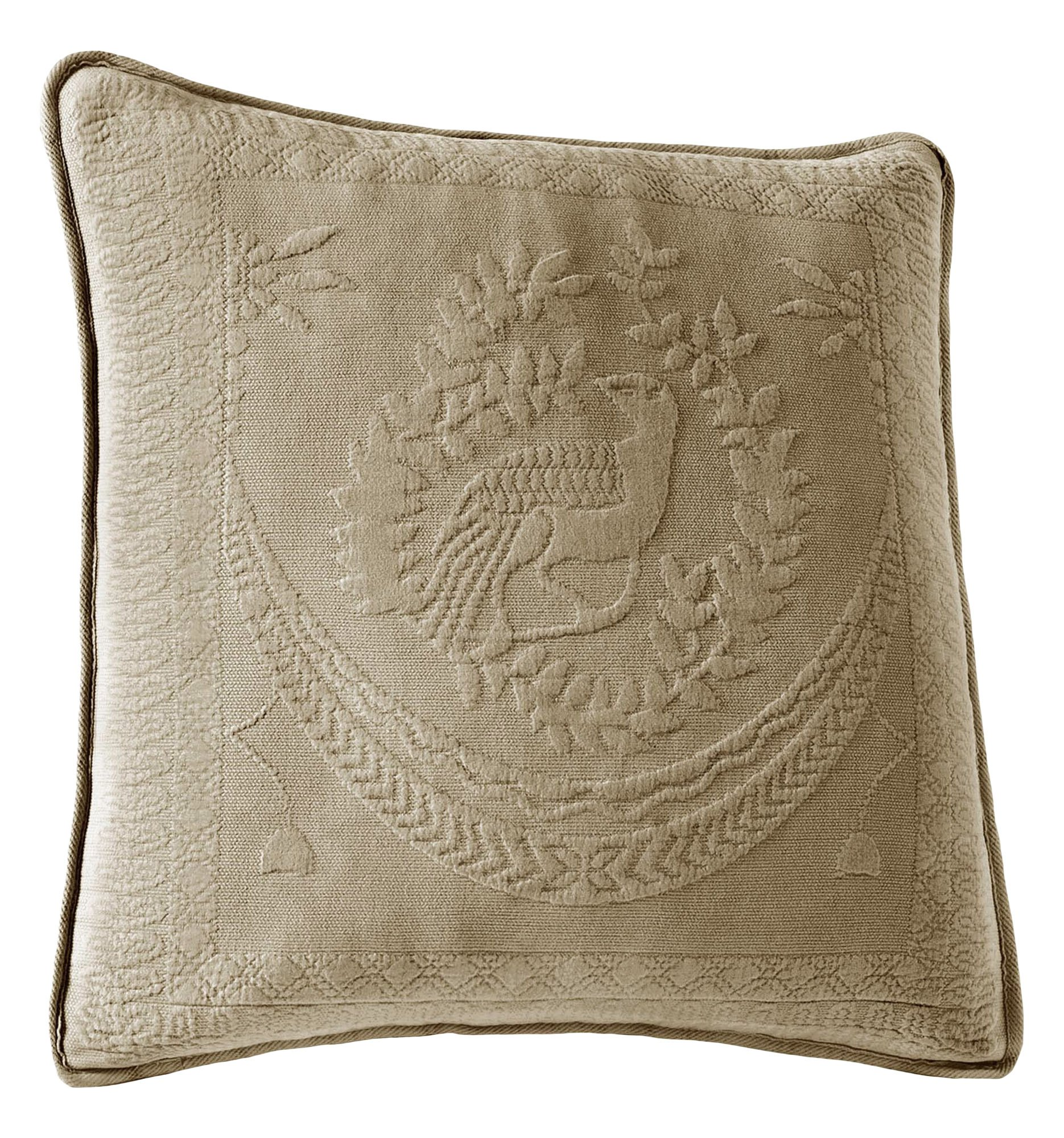 Historic Charleston 13995020X020SAG King Charles Matelasse 20-Inch by 20-Inch Decorative Pillow, Sage