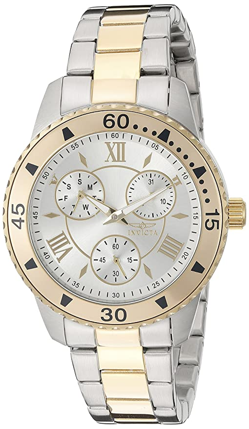 Amazon.com: Invicta Womens 21770 Angel Analog Display Quartz Two Tone Watch: Watches