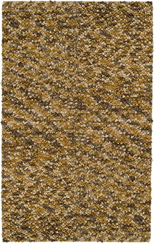 Surya Georgetown GEO-8003 Shag Hand Woven 100 New Zealand Wool Gold 5' x 8' Area Rug