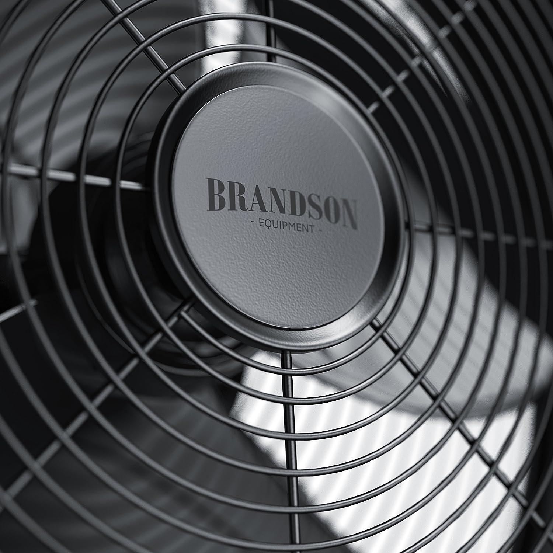Technologie datt/énuation active de bruit 3 niveaux de vitesse Ventilateur de table design 30cm Oscillation /à 80 /° commutable Brandson